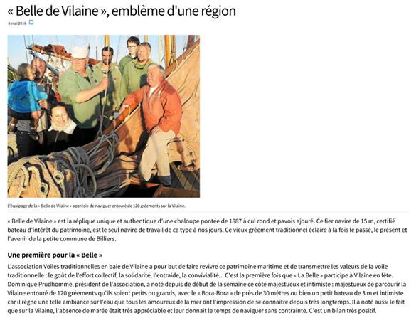 « Belle de Vilaine », emblème d'une région - Arzal - LeTelegramme